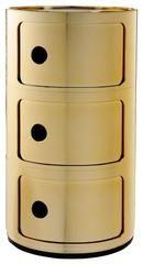 Kartell         Precious Componibili Round 3 Door Tower                            - 2Modern