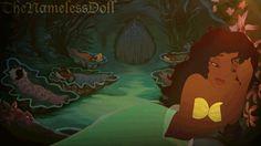 Las princesas Disney son ilustradas como si fueran sirenas