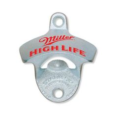 "Miller High Life STARR ""X"" Bottle Opener by Brown Manufacturing Company / STARR Bottle Openers. $10.97. Two Mounting Screws Included. These are the original & classic STARR bottle openers manufactured by Brown Mfg. Company. Size: 3.25"" tall x 2.75"" wide x 1.25"" deep.. Bottle cap catcher sold seperately. Silver Zinc Plated, Cast Iron. Authentic, original and classic: STARR Bottle Openers have been the choice of bottlers and brewers for over 80 years. Perfect for your kitchen, hom..."