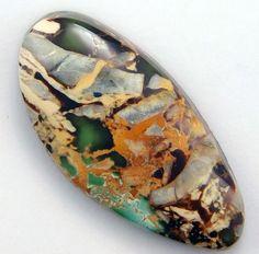 Royston Turquoise  Hand Cut Freeform Gemstone by WildRavenStudio, $26.00