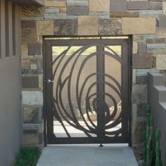 Gate Design Ideas iron gate swg2011 Gate Design Ideas Suzman Design Associates