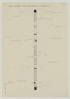 Toshi Ichiyanagi Music For Piano No. 7 (1961)