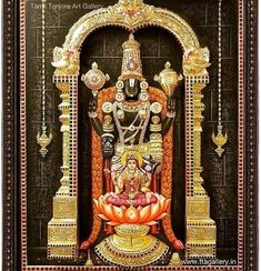 Top 20 Tanjore painting artists and Art gallery lists in india Tanjore Painting, Krishna Painting, Lord Murugan Wallpapers, Lord Balaji, Lakshmi Images, God Pictures, Amazing Pictures, Spiritual Decor, Leaf Stencil