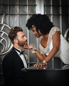 love this interracial wedding photo