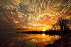 """By combining multiple images into one, photographer Matt Molloy has captured entire sunsets in one single breathtaking image using a technique he calls """"timestacking."""""""