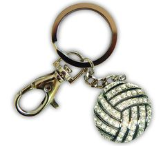Add a little sparkle to your keys with a volleyball bling keychain. Pristine pewter, zinc and crystals Protected from tarnishing Charm My Dream Car, Dream Cars, Volleyball Jerseys, Future Car, Car Stuff, Warehouse, Keys, Sparkle, Bling