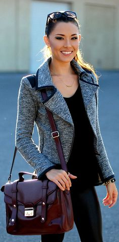 Love the bag and the jacket!
