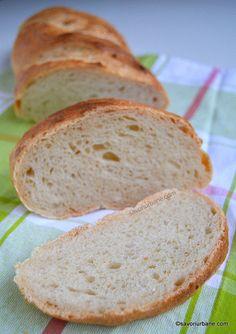 Franzela de casa reteta simpla - ca la brutarie   Savori Urbane Bread Recipes, Cooking Recipes, Good Food, Yummy Food, Biscotti, Deserts, Food And Drink, Gluten, Tasty