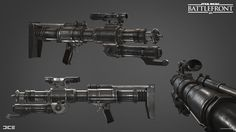 One of the weapons I made while I was an intern at dice. I Was also responsible for the concept and marketing renders. Rendered in Frostbite Engine. Star Wars Guns, Star Wars Rpg, Star Wars Fan Art, Sci Fi Weapons, Medieval Weapons, Concept Weapons, Objet Star Wars, Marvel Cosplay Girls, Star Wars Episode 2