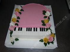 Výsledek obrázku pro dort s klavírem