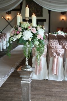 Flower Design Events: Baroque Candelabras...Flowers of Charlotte Loves this!  Visit us at www.charlotteweddingflorist.com