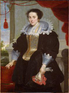 Portrait of a Lady, Cornelis de Vos, 1625 17th Century Clothing, 17th Century Fashion, Portfolio Mode, Fashion Portfolio, Baroque Fashion, Vintage Fashion, Fashion History, Fashion Art, Mode Baroque