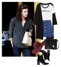 """""""Getting frozen yogurt in LA with Harry"""" by valentinacard ❤ liked on Polyvore featuring Karl Lagerfeld, Zara, Miss Selfridge, Yves Saint Laurent, Charlotte Russe, women's clothing, women, female, woman and misses"""