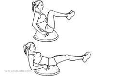 Bosu Ball Leg Pull-in / Knee Tucks