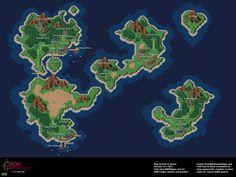 Chrono Trigger - Present (1000 AD) Overworld Super Nintendo SNES Map