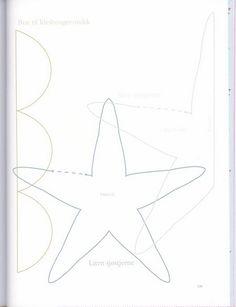 LAS LABORES DE ARACELI: Patron caracola,caballito y estrella de mar