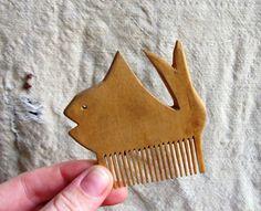 Vintage Carved Wood Hair Comb