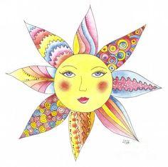 sun art | Mexican Sun Painting by Lada Ladik - Mexican Sun Fine Art Prints and ...