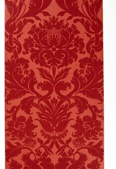 Fiorella Damask Wallpaper 529194 Schumacher Wallcoverings Reds Country Wallpaper Traditional Wallpaper, Easy to clean , Easy to wash, Easy to strip Velvet Wallpaper, Damask Wallpaper, Wallpaper Roll, Pattern Wallpaper, Wallpaper Warehouse, Blue Candles, Room Paint Colors, Traditional Wallpaper, Pattern Design