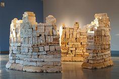 Citadel -ceramic installation by Patricia Sannit