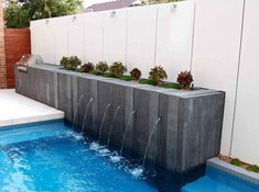 Swimming Pool Fountain Ideas business home swimming pool fountain ideas business home Pool Water Features Contemporary Pool Melbourne H2o Designs Piscinas Pinterest Pool Water Features Pool Water And Water Features