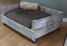 DIY Dog Bed with Repurposed Crate