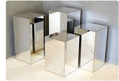 Image result for mirror perspex plinths