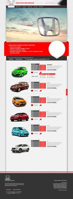 Web desain Sales Honda Makassar