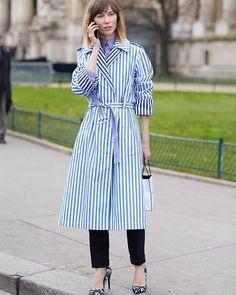Anya •  Photo by #Dvora #Fashionistable •  www.dvora.photography  #AnyaZiourova @anyaziourova #PFW #FashionWeek #StreetStyle #Fashion #Mode #Moda #Style #StreetChic #StreetFashion #MBFW #NoFilter