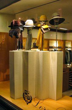 London, Loro Piana Scarf Display, Fashion Displays, Spring Racing, Retail Store Design, Hat Shop, Visual Merchandising, Hanger, Windows, Flooring