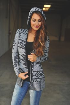 Dottie Couture Boutique - Grey Aztec Cardigan, $39.00 (http://www.dottiecouture.com/grey-aztec-cardigan/)
