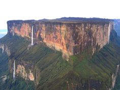 Mount Roraima is the highest of the Pakaraima chain of tepui plateau in South America. First described by the English explorer Sir Walter Raleigh in 1596, its 31 km2 summit area is defended by 400-metre-tall cliffs on all sides. The mountain includes the triple border point of Venezuela, Brazil and Guyana.