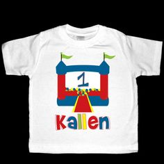 Personalized Bounce House Ball Pit Birthday by siblingspecialtees, $17.00