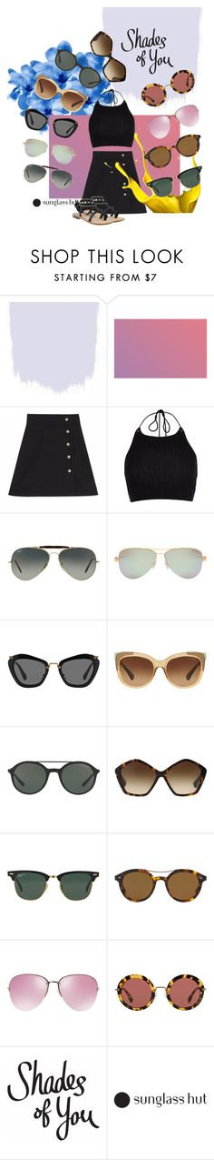 """Shades of You: Sunglass Hut Contest Entry"" by emily-elaine ❤ liked on Polyvore featuring Gucci, River Island, Ray-Ban, Tiffany & Co., Miu Miu, Coach, Giorgio Armani, Azura and shadesofyou"