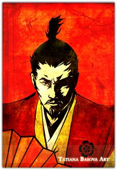 Oda Nobunaga Print Painting. Samurai Art. Japanese Warlord. Oda Nobunaga was a fearless Japanese warlord who lived and died with a sword in his hands. He destroyed everything that blocked his way to power, including the belligerent monks of the sacred Hiei Mountain.