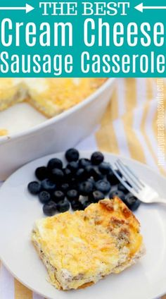This Cream Cheese Sausage Casserole is so simple to make and full of flavor. The bold sausage flavor and cream cheese make the perfect pair. Brunch Recipes, Sweet Recipes, Breakfast Recipes, Snack Recipes, Breakfast Ideas, Drink Recipes, Easy Recipes, Breakfast For Dinner, Perfect Breakfast