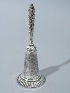 century ornate Italian sterling silver dinner bell