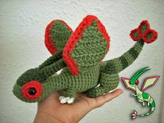 Amigurumi pattern for the best dragon Pokémon ever: Flygon!