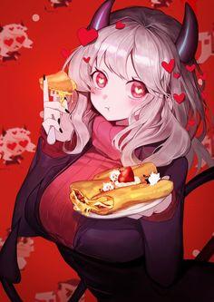 Girls Anime, Anime Art Girl, Anime Sexy, Anime Style, Kawaii Anime, Animes Yandere, Manga Anime, Anime Devil, Familia Anime