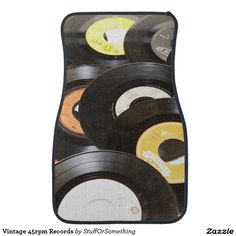 Vintage 45rpm Records Floor Mat