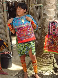 Molas are often incorporated into blouses