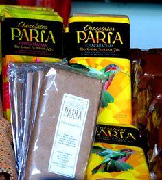 Chocolates de Paria productos en la tienda del Ecomuseo del Cacao. Sucre, Venezuela