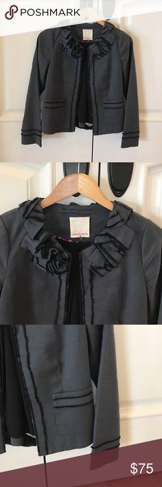 Rebecca Taylor Blazer⚽️ Rebecca Taylor Blazer⚽️. Hook and eye closure, front pockets, 54% ramie & 44% cotton 2% elastane and fully lined. Gorgeous jacket in excellent preowned condition! Rebecca Taylor Jackets & Coats Blazers