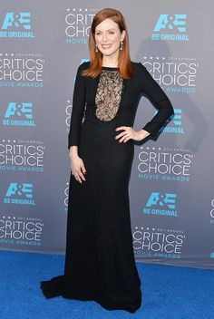 Julianne Moore in Saint Laurent #CriticsChoiceAwards