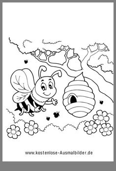 Coloring picture - Coloring picture Best Picture For car photography For Your Taste You are looking for something, a - Creative Activities, Preschool Activities, Bee Coloring Pages, Bee Pictures, Big Balloons, Hand Embroidery Designs, Crafts For Kids, Drawings, Pattern