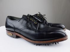 Footjoy Premiere Classics Dry 50388 Golf Shoe Pebbled Leather Black Men 7.5 C #FootJoy