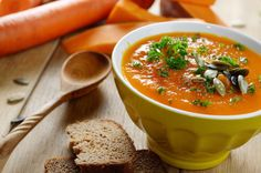 Tasty, creamy pumpkin soup to keep stomachs warm and full during the cold season!