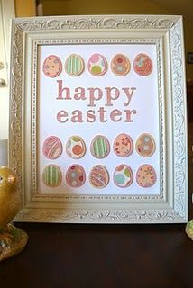 #cricut easter picture frame