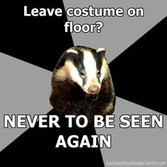 backstage badger...I may or may not have done this before...