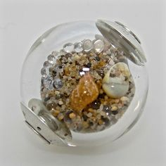 !!!!!!!!!!!!!!!!!!!!!!!!!!!!!!!!!!!!!   Lampwork Bead filled with sand and shells.